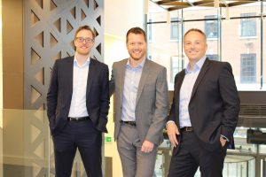Founding partners of Tyr Law (Matthew, Alistair and Dean)
